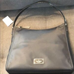 Handbags - Black nylon Kate Spade bag, new with tags